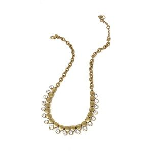 J. Crew Gold and Crystal Necklace